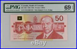 1988 Canada Bank of Canada $50 Dollars Banknote BC-59d PMG 69 EPQ Superb Gem Unc
