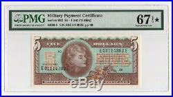 $5 Series 692 Military Payment Certificate First Printing PMG 67 EPQ Superb Gem